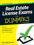 Book Cover Image. Title: Real Estate License Exams For Dummies, Author: John A. Yoegel