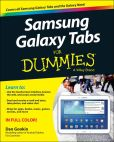 Book Cover Image. Title: Samsung Galaxy Tabs For Dummies, Author: Dan Gookin