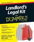 Book Cover Image. Title: Landlord's Legal Kit For Dummies, Author: Laurence C. Harmon