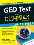 Book Cover Image. Title: GED Test For Dummies, Quick Prep Edition, Author: Murray Shukyn