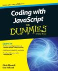 Book Cover Image. Title: Coding with JavaScript For Dummies, Author: Chris Minnick