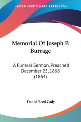Memorial Of Joseph P. Burrage