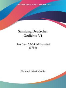 Samlung Deutscher Gedichte V1