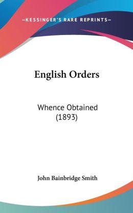 English Orders