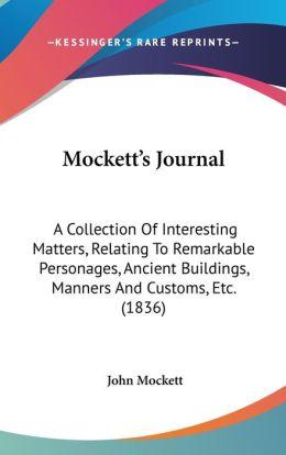 Mockett's Journal