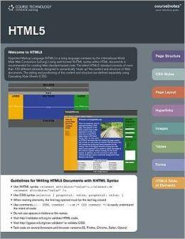 HTML5 CourseNotes