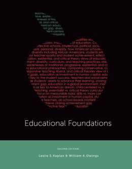 Educational Foundations