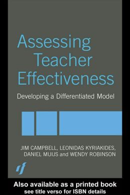 Assessing Teacher Effectiveness: Different models