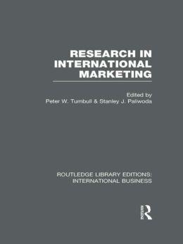 Research in International Marketing