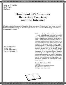 Handbook of Consumer Behavior Tourism and the Internet