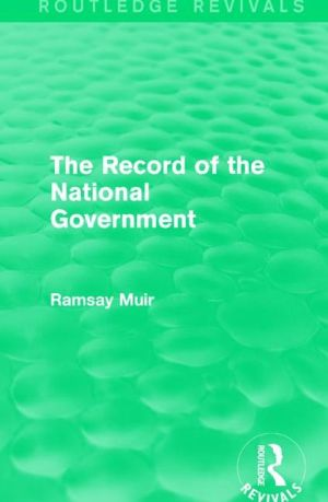 The Record of the National Government