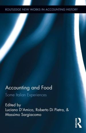 Accounting and Food: Some Italian Experiences