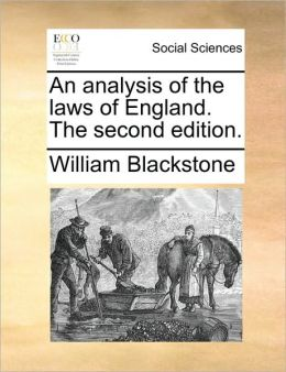 An analysis of the laws of England. The second edition.