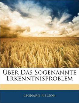 Uber Das Sogenannte Erkenntnisproblem
