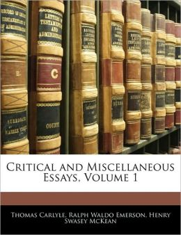 Critical And Miscellaneous Essays, Volume 1