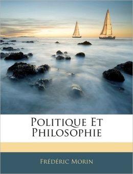 Politique Et Philosophie