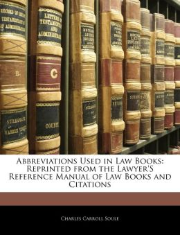 Abbreviations Used In Law Books