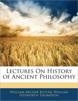Lectures On History Of Ancient Philosophy