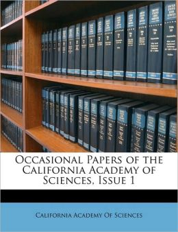 Occasional Papers Of The California Academy Of Sciences, Issue 1
