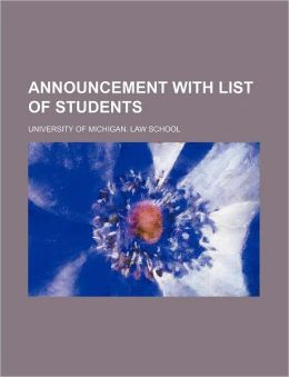 Announcement with List of Students