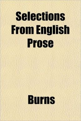 Selections from English Prose