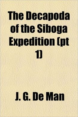 The Decapoda of the Siboga Expedition (PT 1)