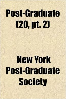 Post-Graduate Volume 20, PT. 2