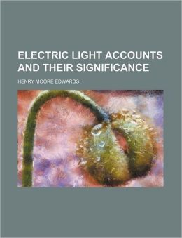 Electric Light Accounts and Their Significance