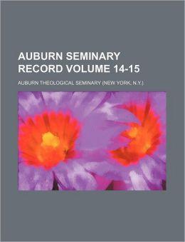 Auburn Seminary Record