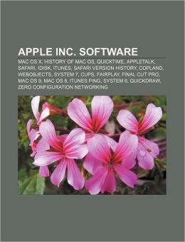 Apple Inc. software: Mac OS X, History of Mac OS, QuickTime, AppleTalk, Safari, IDisk, ITunes, Safari version history, Copland, WebObjects