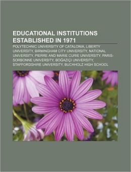 Educational Institutions Established In 1971