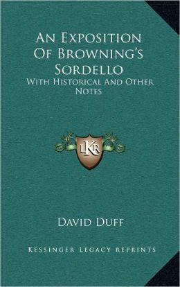 An Exposition Of Browning's Sordello