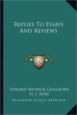 Replies To Essays And Reviews