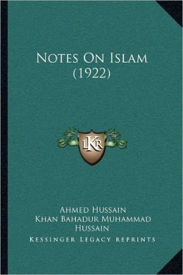 Notes On Islam (1922)