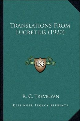 Translations From Lucretius (1920)
