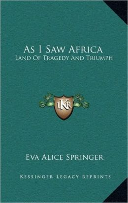 As I Saw Africa