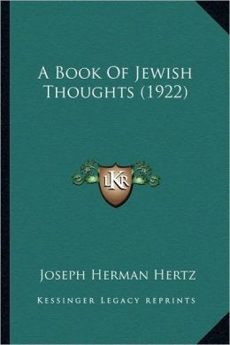 A Book Of Jewish Thoughts (1922)