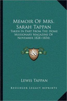Memoir Of Mrs. Sarah Tappan