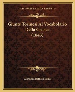 Giunte Torinesi Al Vocabolario Della Crusca (1843)