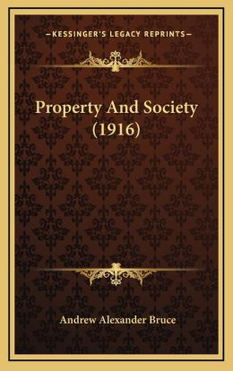 Property And Society (1916)
