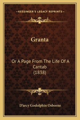 Granta: Or A Page From The Life Of A Cantab (1838)
