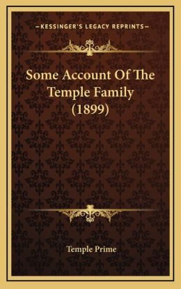 Some Account of the Temple Family (1899)