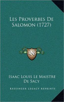 Les Proverbes de Salomon (1727)