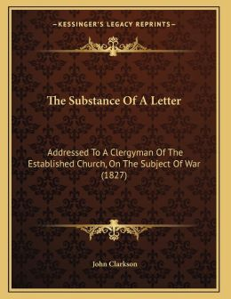 The Substance Of A Letter