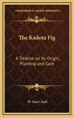 The Kadota Fig: A Treatise On Its Origin, Planting And Care