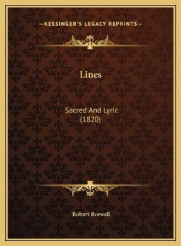 Lines: Sacred And Lyric (1820)