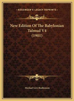 New Edition of the Babylonian Talmud V4 (1901)