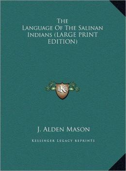 The Language of the Salinan Indians