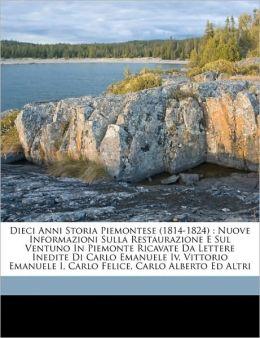 Dieci Anni Storia Piemontese (1814-1824)