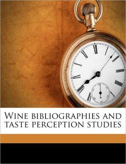 Wine bibliographies and taste perception studies